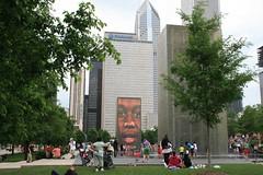 Chicago in June (Kathy~) Tags: city urban chicago building millenniumpark summerfun fc waterpark flickrmeetup downtownfun june2008 gv2adminsrock herowinner
