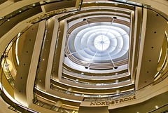 (navidbaraty) Tags: sf sanfrancisco california 15fav retail architecture mall shopping geometry ceiling nordstrom unionsquare 7x7 westfieldcentre