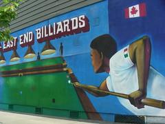 East End Billiards (knightbefore_99) Tags: street blue art pool vancouver mural bc cue billiards hastings eastvan eastend