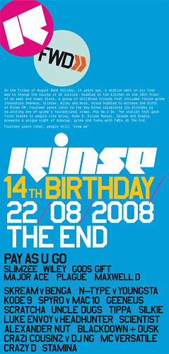 Rinse & FWD>> August 08