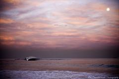 Under the moonlight (~* Rae Rae *~) Tags: ocean sea beach water bar australia nsw newie barbeach beachnewcastlebarbeachdixonparksunseteveningtwilightpink