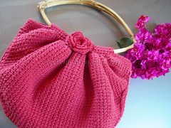 fat bag croche tunisiano (gixlene) Tags: crochet vermelho bolsa tunisian croche fatbag tunisiano