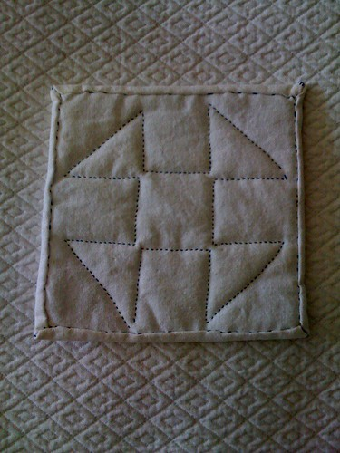 Back of quilting
