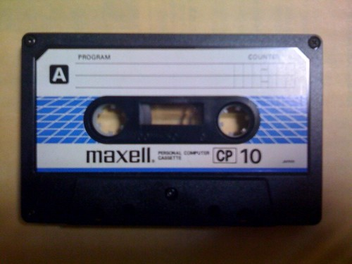 Casette tape for recording PC programs