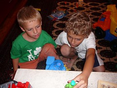 joshy and ben playing with action figures (alist) Tags: family alist robison alicerobison 66214 ajrobison