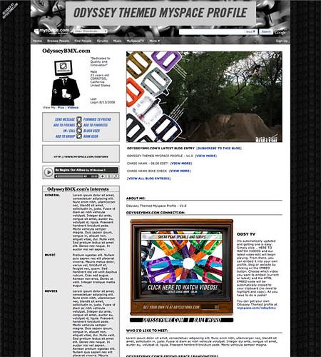 Odyssey Themed MySpace Profile