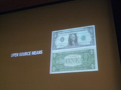 Open Source means money