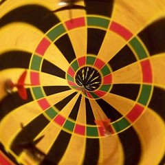 Dart Square (_kimmg_) Tags: red white abstract color colour green yellow square hope leaf colorful happiness thoughts future cancersurvivor personalopinions losingmymarbles personalthoughts colourmania kimmarieg