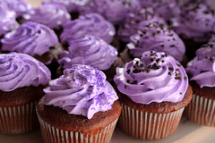 cupcake3sm (Sevenmarie) Tags: food cake yummy purple chocolate delicious filled cupcake sprinkles icing custard hazelnut baked bakedgoods