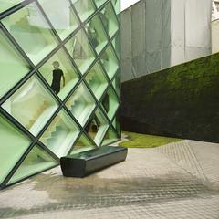 Collision (*tk) Tags: 6x6 film glass japan architecture rolleiflex mediumformat square tokyo aoyama prada herzogdemeuron