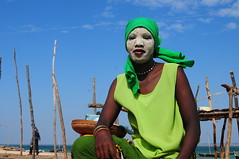green princess with msiro on her face (luca.gargano) Tags: ocean voyage africa travel girls green girl islands nice chica indian muslim tribal chicas exploration fille viaggio filles mozambique ragazza mozambico ragazze gargano quirimbas moza abigfave msiro platinumheartaward lucagargano mefunvo
