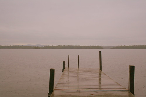 rain on squam lake