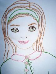 DSC00686 (lilukids) Tags: girls girl amy sweet embroidery retro pillow butler stitching etsy applique sticken stickerei dawanda