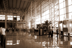 IMG_7792 (Sam's Exotic Travels) Tags: sepia airport capital terminal prc chinas sams shijiazhuang travelphotos samsays hebeiprovince samsexotictravelphotos exotictravelphotos samsayscom jebeo northchinaplain