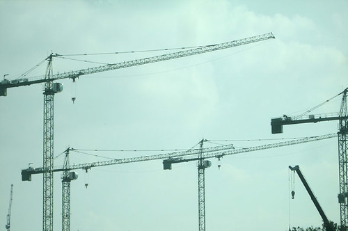 Cranes on London 2012 Olympic site