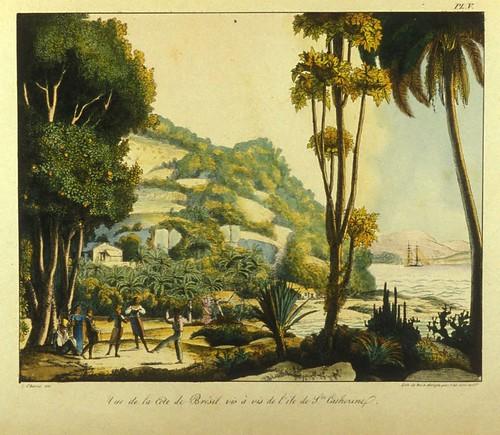 012- Vista de la costa de Brasil frente a la isla de Sta. Catherine
