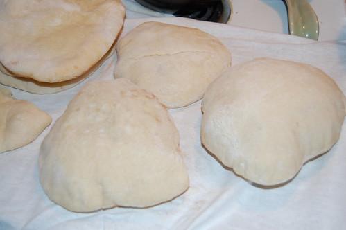 puffy fresh baked pita balls