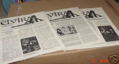 The Elvira Examiner newsletters from the 1990s