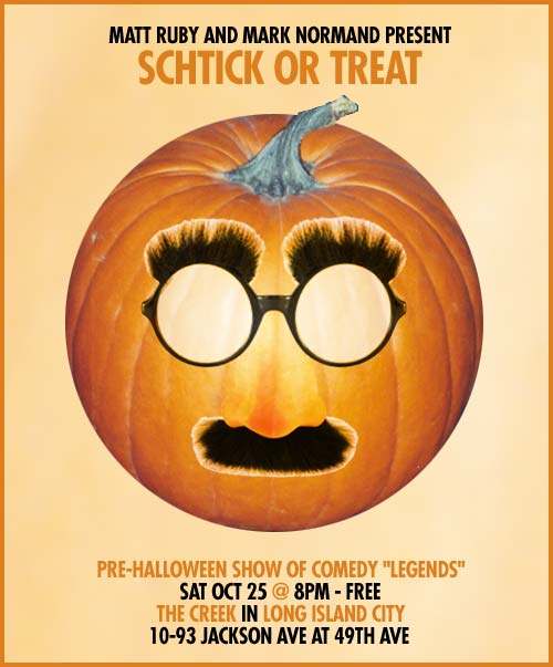 Schtick or Treat Flyer