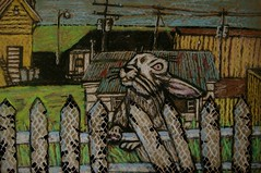 Wild Hare (robbo65(http://robbo-robbosart.blogspot.com/ )) Tags: art by drawings cardboard recent robbo