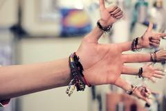 hand gestures :P