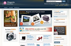 Magento demo : homepage