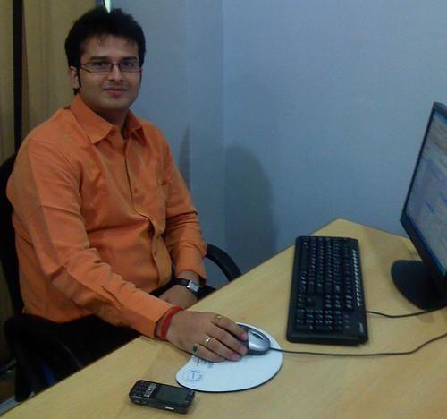 Manish Pandey at his new office