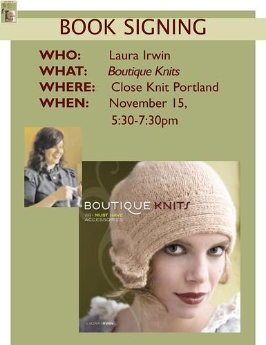 Laura Irwin booksigning