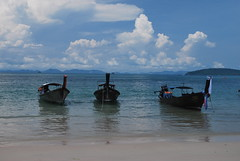 The 3 Boats (sdaph) Tags: blue sea green beach thailand island coast amazing loveit tropical ao nang kraby loveitneverflood