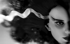the bride (robolove3000) Tags: bw halloween monster closeup lensbaby toy doll horror universal thebrideoffrankenstein
