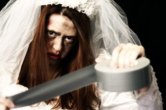 Day 148: Zombie Bride Is Ready To Get Her Groom (The Andrea) Tags: ducttape happyhalloween livingston copycats fgr 365days ducttaperevolution coolkidstable zombiebridereturns halloweenportraits happyoctonifer31st