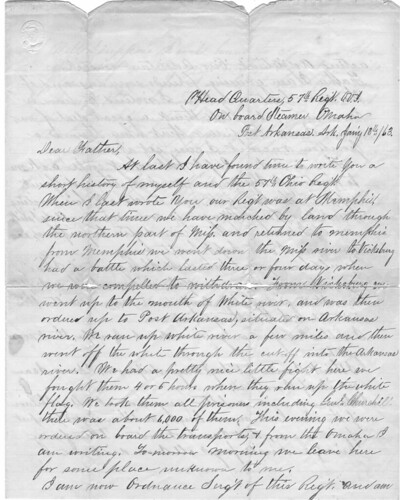 civil war soldiers letter to father january 1863