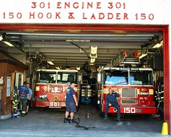 E301 FDNY Firehouse Engine 301 & Ladder 150, Hollis, Queens, New York City (jag9889) Tags: county city nyc house ny newyork building station architecture truck fire engine 150 company queens borough ladder firehouse 2008 fdny department firefighters hollis hogs seagrave 301 bravest e301 y2008 engine301 ladder150 hollishogs jag9889
