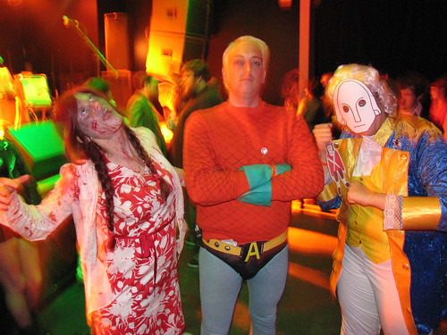 Halloween 2008 - Zombie Kirstie, Aquaman Gavin, George Washington Leigh