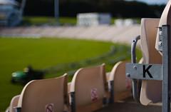 K (Skink74) Tags: uk england tractor green 20d grass k dof bokeh stadium hampshire cricket arena seats pitch covers rosebowl curve westend eos20d cricketground nikkor35f14 hampshirecountycricketclub nikkor35mm114ai