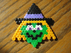 Perler Beads Halloween Witch (Kid's Birthday Parties) Tags: halloween kids beads witch crafts kidscrafts fusebeads hamabeads perlerbeads