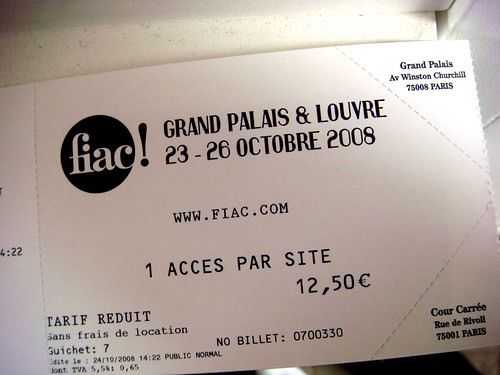 fiac entrance ticket
