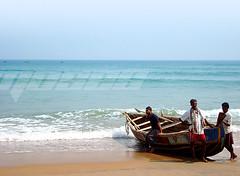 My journey begins.. (A Schwerin Moses) Tags: ocean blue beach three boat sand waves fishermen moses shore vizag rishikonda