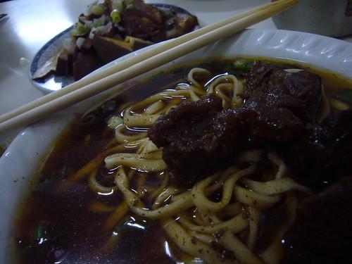(牛肉麵,$90)