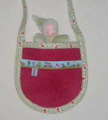 Moondrop Pocket Purse - Red (moonchild studio) Tags: pink flowers red mushroom toy moss doll european waldorf deer fox toadstool ribbon hedgehog steiner moondroppurse