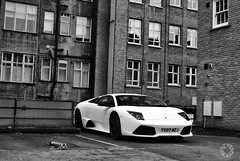 Lamborghini Murcilago LP640 in London (Martijn Kapper) Tags: england bw white black london sony united kingdom exotic alpha lamborghini supercar martijn a100 londen murcilago lambo kapper carspotting lp640