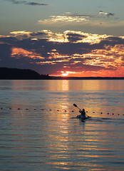 Sunset (bill.d) Tags: sunset kayak michigan unitedstatesofamerica explore beulah 2008 crystallake benziecounty xti crystallakemichigan