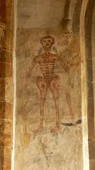 Fresco commemorating the Black Death - Ashby St. Ledgers