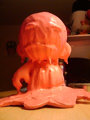 Oil Demon Girl (Digital Skraps) Tags: puddle melting paint kidrobot oil demon wetpaint dripping munny runningpaint