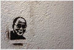 Dalai Lama (Dit is Suzanne) Tags: 25112008 nederland netherlands нидерланды groningen гронинген ©ditissuzanne canoneos40d sigma18125mm13556 img8517 stencil шаблон graffiti графитти далайлама dalailama noncoloursincolour iso500 stijlicoonofpolitiekstatement explore httpwwwpageflakescomdefaultaspx 157 views5100