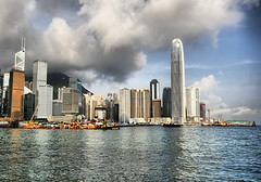 Hong Kong Skyline (` Toshio ') Tags: china city mountains water skyline architecture buildings hongkong bay harbor asia cityscape chinese perspective orient soe hdr toshio highdynamicresolution