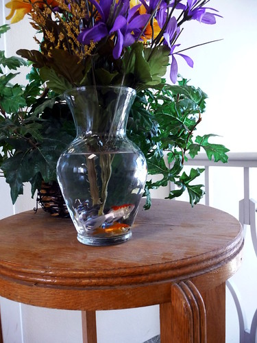 plastic flower fish
