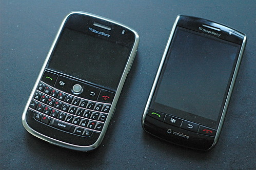 BlackBerry Bold and Storm