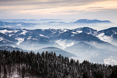 from above (Mace2000) Tags: mist mountains nature fog clouds germany landscape deutschland nebel natur wolken berge 5d landschaft schwarzwald blackforest mummelsee mace2000 countryscenery mg1907