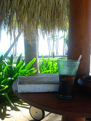 Coca Light and a book by the pool at Club Med.